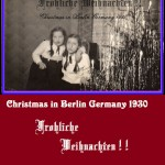 Lilo and Erika Christmas in Germany 1930 COVER 7